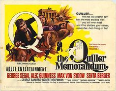 Excellent low key spy thriller with a Harold Pinter script THE QUILLER MEMORANDUM (1966)