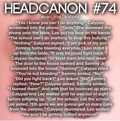 Leo and Calypso moves states and schools, returning to New York. They had moved to Arizona, but that didn't work out. Percy Jackson Couples, Percy Jackson Head Canon, Percy Jackson Characters, Percy Jackson Ships, Percy Jackson Quotes, Percy Jackson Fan Art, Percy Jackson Books, Percy Jackson Fandom, Rick Riordan Series