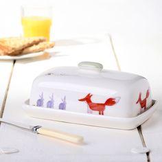 Fox & Rabbit Butter Dish