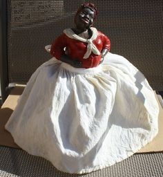 Vintage Black Americana Aunt Jemima/Mammy 1/2 Doll on Resin Base Removable Skirt | eBay