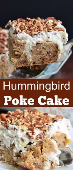 Soft, moist, super easy hummingbird cake that makes a beautiful spring and summer dessert. This version of a Hummingbird cake is so easy, it's made into a poke cake and made extra moist from a layer…