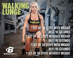 Lace up your sneaks and turn up your iPod. Today, you're hitting legs with Ashley Hoffmann. Bodybuilding.com