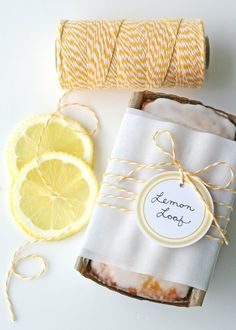 Pretty packaging - I think I'll do this the next time I am to take dessert to friend's house
