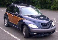 """2002 Chrysler PT Cruiser """"Woodie"""" -- Ours is Inferno Red."""