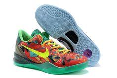 sports shoes b18cb 614ad Nike Zoom Kobe VIII Männer Schuhe Lichtblau Rot Grün Kobe 9 Shoes, New  Jordans Shoes