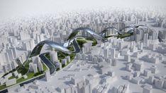 Sonik Module, shanghai architecture, chinese architecture, spiral architecture, spiral building, multi-program building, public transportation, micro-climate