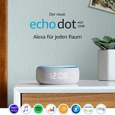 New Echo Dot Gen - Smart speaker with clock and Alexa - Sandstone. With tens of thousands of skills and counting, Alexa is always getting smarter. Audio Hifi, Alexa App, Alexa Echo, Alexa Alexa, Rss Feed, Amazon Echo, Tela, Speakers, Musica