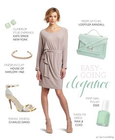 Elegant, easy-going rehearsal dinner outfit (composite by Sarah Zlotnick)