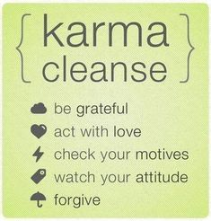 Karma cleanse for everyday :) https://www.facebook.com/yogabyieva
