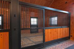 Wide open stalls with great ventilation and easy viewing.