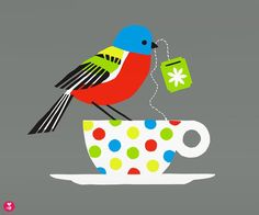Painted Bunting is a limited edition handmade screen print on heavy,  titanium white archival paper. Each print is signed and numbered.  Note: The actual colors may be brighter and richer than they appear