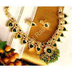Kerala traditional Paalakka necklace - Online Shopping for Necklaces by Jewel Raaga
