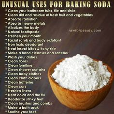 The wonders of baking soda Baking Soda Cleaning, Baking Soda Uses, Household Cleaning Tips, Household Products, Daily Cleaning, Cleaning Recipes, Spring Cleaning, Cleaning Hacks, Natural Health Remedies
