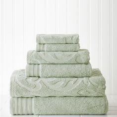Shop for 6-piece Jacquard/Solid Medallion Swirl Towel Set. Ships To Canada at Overstock.ca - Your Online Bath & Towels Destination!  - 17412730