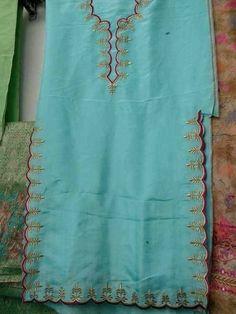 Embroidery Suits Punjabi, Hand Embroidery Dress, Embroidery Fashion, Machine Embroidery, Patiala Salwar Suits, Salwar Suits Party Wear, Border Embroidery Designs, Embroidery Suits Design, Salwar Suit Pattern