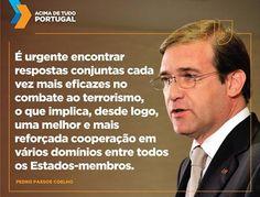 Pedro Passos Coelho hoje na sessão de homenagem às vítimas dos atentados.