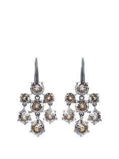 Bottega Veneta Chandelier oxidised-silver earrings hFoFAlw