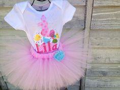 Birthday girl bird cupcake outfit first by PaisleyPrintsSpokane, $46.95