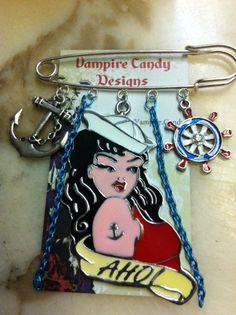 Vampire Candy  Ahoi Sexy Kilt Pin Brooch/Bag Charm by VampireCandy, $12.00