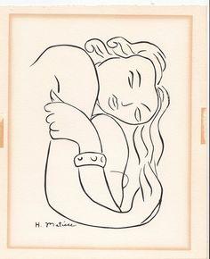 """ Pasiphae "" trial linoleum print by Henri Matisse"