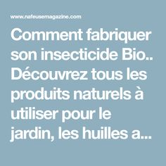 les 25 meilleures id es de la cat gorie insecticide bio sur pinterest insecticide vinaigre. Black Bedroom Furniture Sets. Home Design Ideas