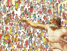 God Finds Waldo!!! Absolutely Hilarious!!! Photoshop job of Michelangelo's portrayal of God from the Sistine Chapel inserted into funny situations. Not safe for the religiously uptight.