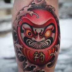 Home - tattoo spirit - Daruma tattoo design 005 # body art - Tattoo Henna, Wild Tattoo, Tattoo Spirit, Tattoo Ink, Irezumi Tattoos, Hannya Tattoo, Japanese Tattoo Art, Japanese Tattoo Designs, Japanese Sleeve Tattoos
