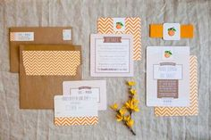 Citrus Wedding Invitation Suite 550x366 Wedding Inspiration: Citrus