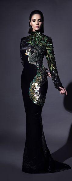 Jean-Louis Sabaji Spring-summer 2018 - Couture - http://www.orientpalms.com/Jean-Louis-Sabaji-7018