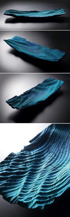 ARTWORK / WOOD CRAFT / CNC / 3D DESIGN / WOODEN WAVE BOWL / CHO YONG-WON, YOO CHANG-SEOK / 조용원 유창석