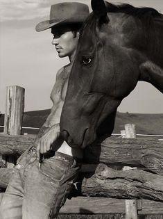Mmm fantasy come true, beautiful man and beautiful horse.