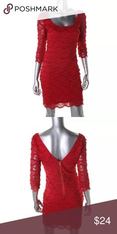 GUESS KIRA RED FRINGE 3/4 SLEEVE DRESS NWT 2 GUESS KIRA RED FRINGE 3/4 SLEEVE DRESS  SIZE 2  NEW WITH TAGS $118  Guess is the iconic American brand for the young & sexy global adventurer. Well-known for it's denim line, Guess also offers handbags and apparel.  Retail: $118.00 Collection: Guess Silhouette: Sheath Sleeve Length: 3/4 Sleeve Closure: Exposed Back Zipper Dress Length: Above Knee, Mini Total Length: 36 1/2 Inches Material: 97% Polyester/3% Elastane Fabric Type: Lace Guess Dresses…