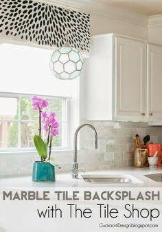 New Marble Backsplash with The Tile Shop