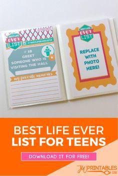Best Life Ever (Bucket) List For JW Teens! | JW Printables