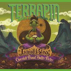 Cerveja Terrapin Liquid Bliss, estilo Porter, produzida por Terrapin Beer Company, Estados Unidos. 6% ABV de álcool.