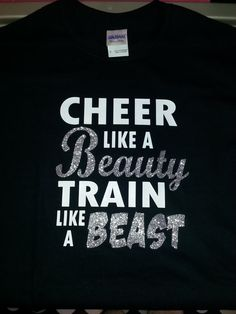 Cheer like a Beauty Train like a Beast by MaineTopNotchBows