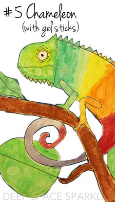 Watercolor Chameleon :The years best art projects for 2014-15 from Deep Space Sparkle