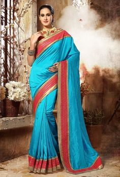 Saree: Saree Fabric/Material: Dupion Silk  Saree Type: Saree With Blouse Saree Work: Printed Length of Saree: 5.5 Meters Blouse: Blouse Fabric/Material: Dupion Silk Length of Blouse: 80 Centimeter Additional Information: Occasion: Ceremonies, Festivals and Weddings Wash Care: Gentle Hand Wash - Dry Clean Recommended  Disclaimer: The image represents the actual product and it is provided as a reference to the product. However, product color may slightly vary due to photographic... - ...