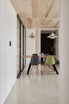 Interior Design by Studio Head - Dehradun Residential Interior Design by Studio Head - Dehradun 3d Interior Design, Residential Interior Design, Interior Decorating, Interior Cladding, Wooden Cladding, Wooden Ceilings, Rustic Wood, Sweet Home, Dining Table