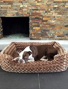 Your furry friend will love having their own place to rest and you'll love how stylish it is with the Animals Matter® Katie Puff Memory Foam Chenille Lounger that has six color patterns.