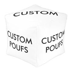 #createyourown #customize - #Custom Personalized Square Pouf Blank Template