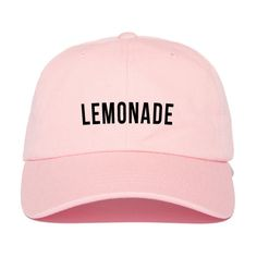 Lemonade formation Strap Back Hat (33 CAD) ❤ liked on Polyvore featuring accessories, hats, strap hats and cotton hats