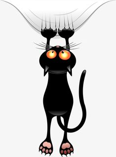 Funny Cat Shower Curtain by goatlady_GetYerGoat - CafePress Cute Cats, Funny Cats, Cat Clipart, Image Chat, Black Cat Art, Black Cats, Witch Cat, Cat Wallpaper, Cartoon Images