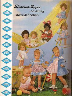 1962 Schildkröt Puppen
