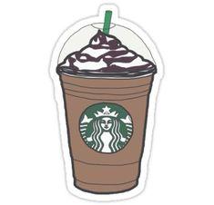 'Starbucks Frappuccino' Sticker by Aidan Murphy – car stickers Starbucks Frappuccino, Starbucks Logo, Starbucks Coffe, Starbucks Drinks, Starbucks Cup Drawing, Starbucks Recipes, Stickers Cool, Preppy Stickers, Planner Stickers