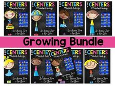 Centers Made Easy GROWING BUNDLE!  Centers Made Easy is a how-to manual for successfully and easily starting centers in your classroom. This Growing Bundle will include 9 units of literacy center activities when it is finished.