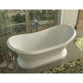 "Found it at Wayfair - Grace 70.75"" x 32.75"" Oval Freestanding Soaker Bathtub with Center Drain"