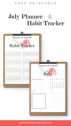 July Goals Freebie