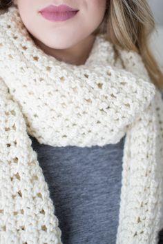 Easy Crochet Blanket Scarf Pattern