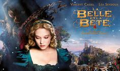 Beauty and the Beast: Lea Seydoux and Vincent Cassel in the official poster 2014 Beauty And The Beast Movie, Beauty And The Best, Vincent Cassel, Netflix Movie List, Lea Seydoux, Hollywood, Fantasy Movies, Miguel Angel, Film Movie